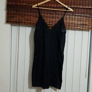 TORY BURCH DRESS/CAMISOLE 100% COTTON BLUE SIZE2